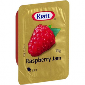 Kraft|RASPBERRY JAM PORTIONS 75X14GM