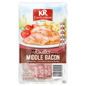 KRC|MIDDLE BACON RASHERS RINDLESS 175G