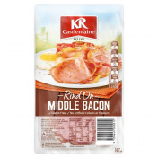 KRC|MIDDLE BACON RASHERS RIND ON 250GM