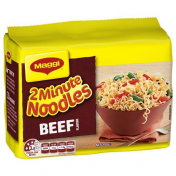 Maggi|BEEF 2 MINTUE NOODLES 5 PACK 74GM