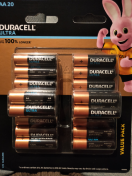 Duracell|Ultra Battery, Siza AA, 1.5V, 20pack